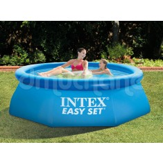 Piscina  Intex Easy Set cu inel gonflabil 244 x 76cm. 28112 4 in 1