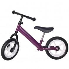 Bicicleta fara pedale violet cu jante albe