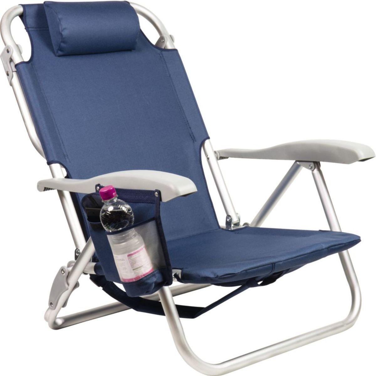 Scaun Albastru de plaja 3 in 1 - ideal pentru plaja, gradina si camping