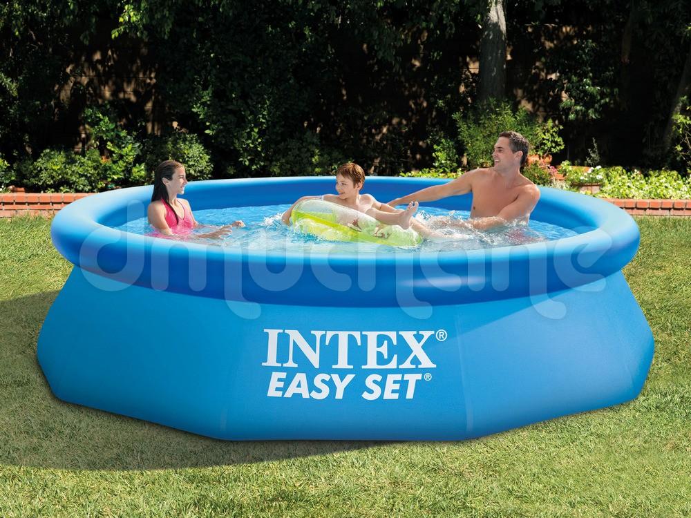 Piscina  Intex Easy Set cu inel gonflabil 305 x 76cm. 28122 4 in 1
