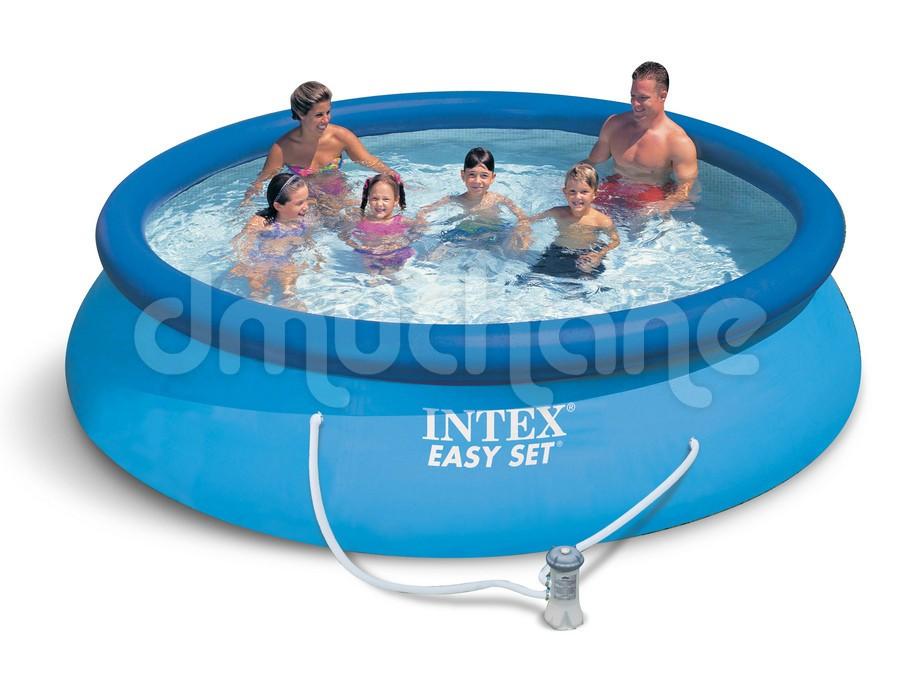 Piscina  Intex Easy Set cu inel gonflabil 366 x 76cm. 28132 4 in 1