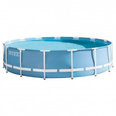 Piscina cu cadrul metalic Intex - Rotunda Prism Frame 457x84 cm 6 in 1 28728