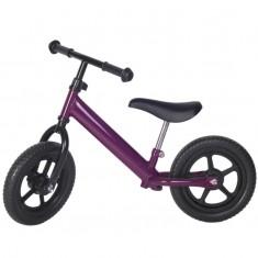 Bicicleta fara pedale violet cu jante negre