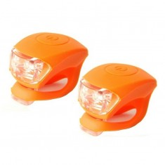 Set far fata-spate bicicleta, pereche sclipitori, portocaliu