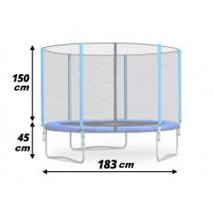 Trambulina cu plasa de siguranta exterioara 183 cm Neo-Sport