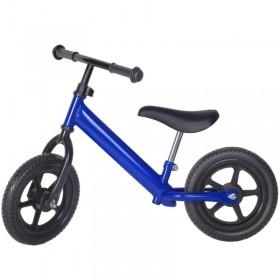 Bicicleta fara pedale albastru-inchis cu jante negre