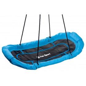 Leagan tip barca Albastru/Negru Fun-Sport 140 x 70 cm - 150 Kg